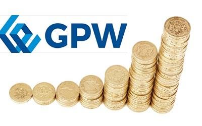 Zdjęcie: logo GPW i monety