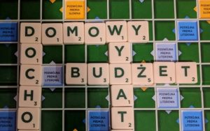 Budżet domowy - plansza Scrabble