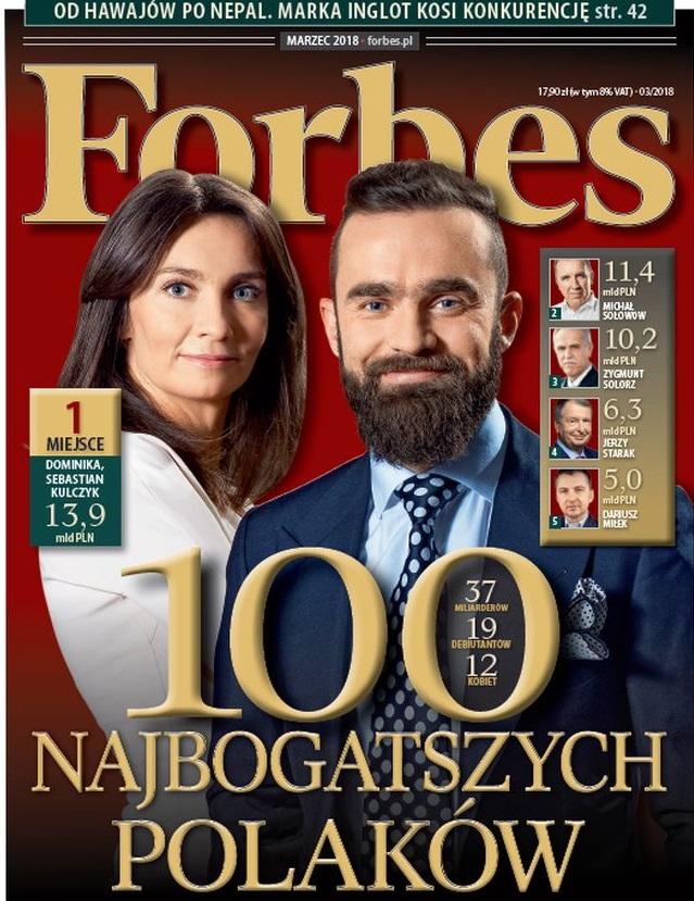 Zdjęcie: Forbes 2018 marzec - okładka
